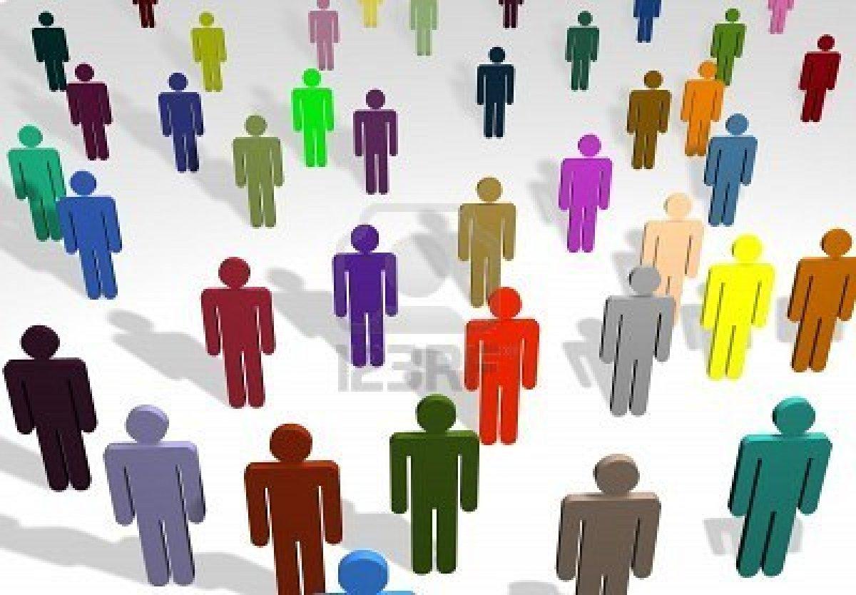 FRONT NATIONAL: IMMIGRATION, LE PARADOXE (Patrick MIGNARD) dans REFLEXIONS PERSONNELLES 2167048-illustration-d-39-une-foule-de-gens-de-couleurs-differentes