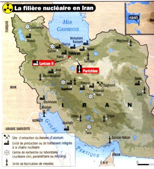 LES PREPARATIFS AMERICANO-ISRAELIENS DE GUERRE CONTRE L'IRAN (Peter SYMONDS) + COMMENT L'IRAN RIPOSTERA (Kaveh L AFRASIABI, enseignant en Sciences Politiques à l'Université de Téhéran) dans REFLEXIONS PERSONNELLES nucleaire_iranien2