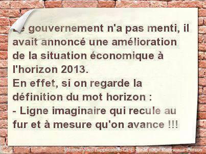 Le gouvernement et l'horizon