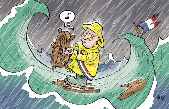 HOLLANDE dans la tempête et qui ne voir RIEN