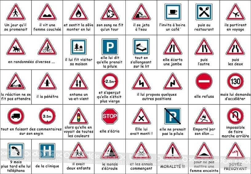 Les panneaux de la route c'est toute une histoire