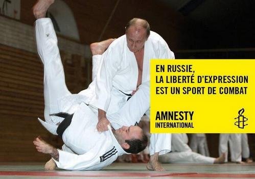 En RUSSIE la liberté d'expression est un sport de combat par AMNESTY INTERNATIONAL