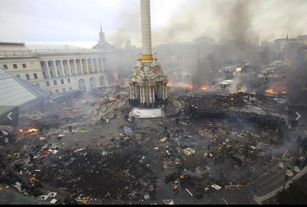 La place de l'indépendance de KIEV  (photo @Reuters  Olga Yakimovich
