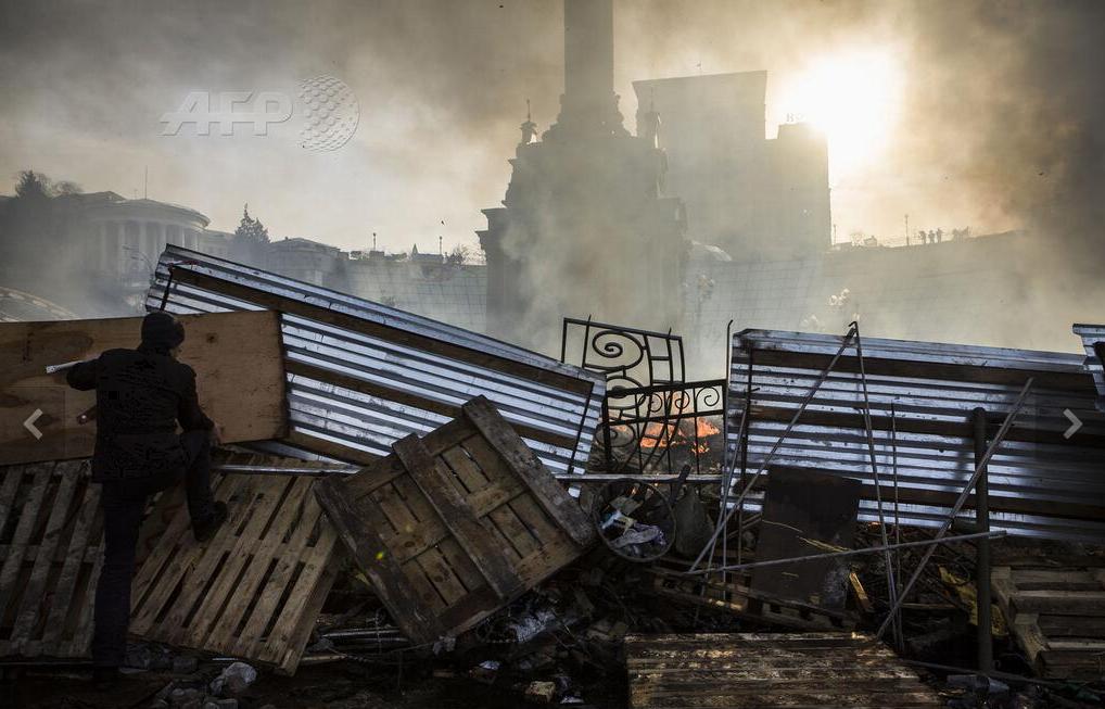 Les rues de KIEV après les affrontements AFP