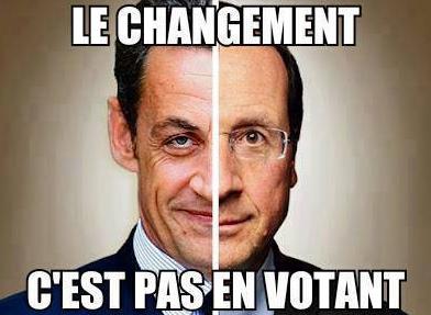 Le changement c'est pas en votant