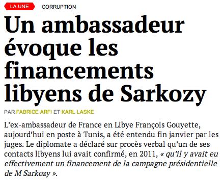 Les financements libyens de SARKOZY