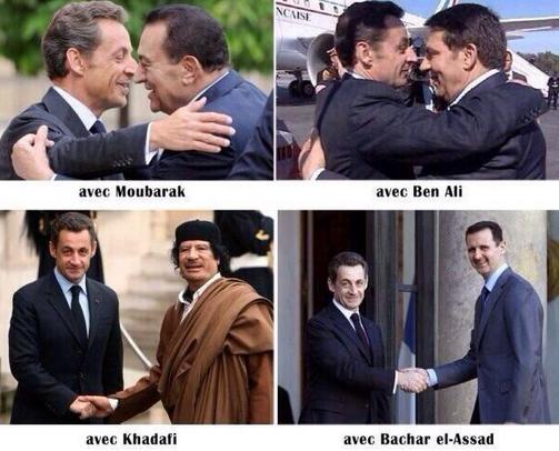 Photos de SARKOZY avec les Dictateurs