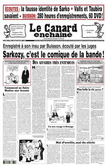 SARKOZY c'est le comique de la bande Le Canard enchaîné