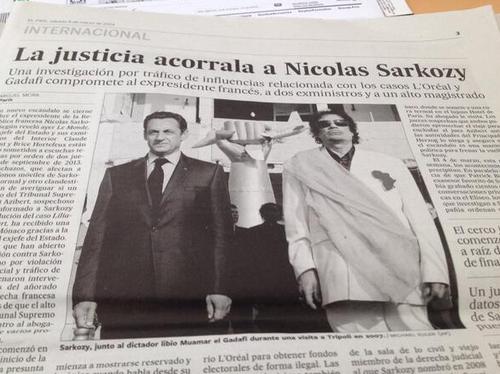 SARKOZY KADHAFI dans la presse étrangère