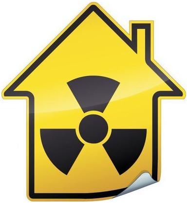 Sigle radioactif sur maison MAISON RADIOACTIVE