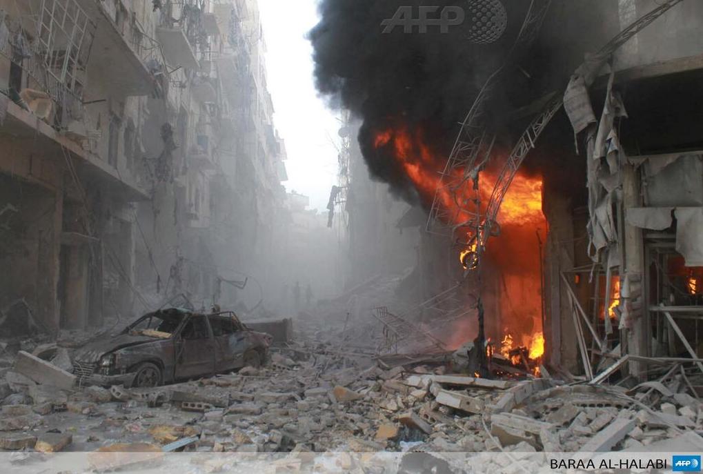 SYRIE Image d'une rue dévastée