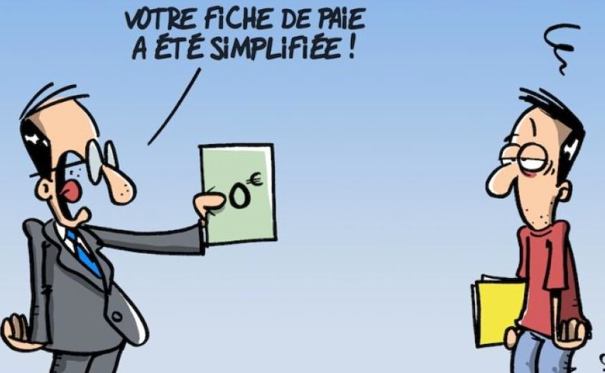 Le choc de simplification par le dessinateur Wingz