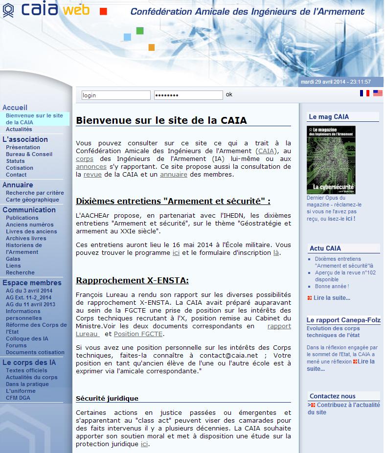 Site CAIA Amicale des Ingénieurs de l'Armement