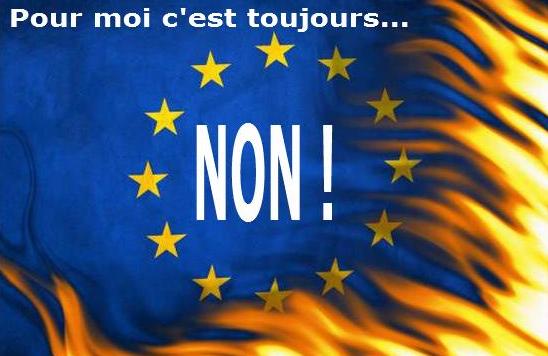 Drapeau européen je vote NON