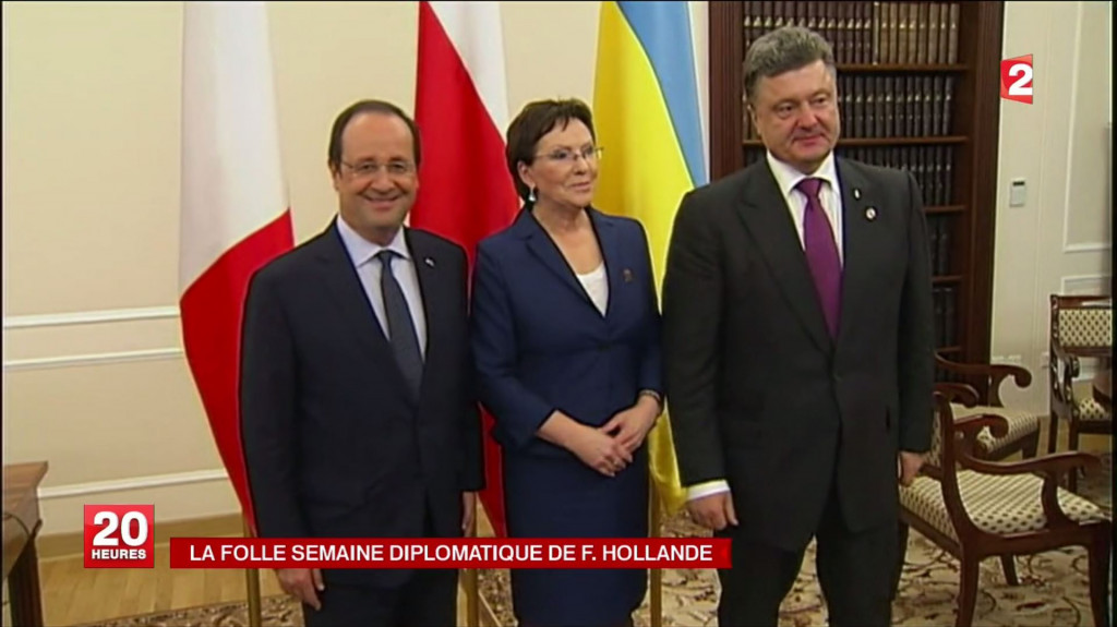 HOLLANDE et le nouveau Président Ukrainien POROCHENKO