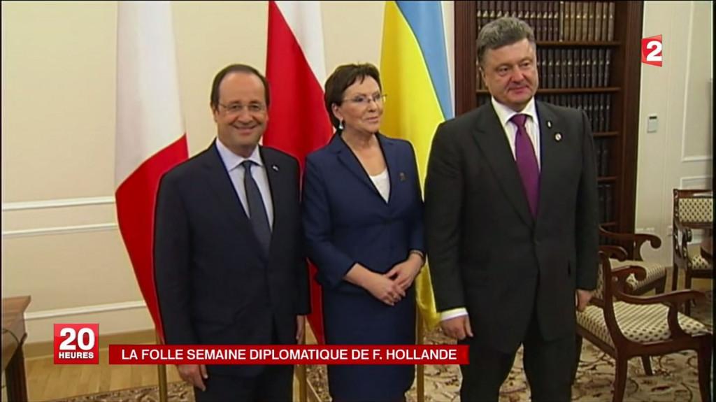 HOLLANDE et le nouveau Président Ukrainien POROCHENKO
