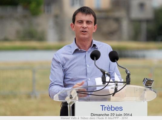 Manuel VALLS à TREBES dimanche 22 juin 2014