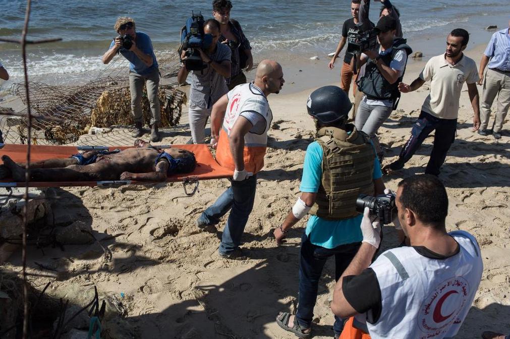 4 enfants tués sur une plage de GAZA ils jouaient au foot