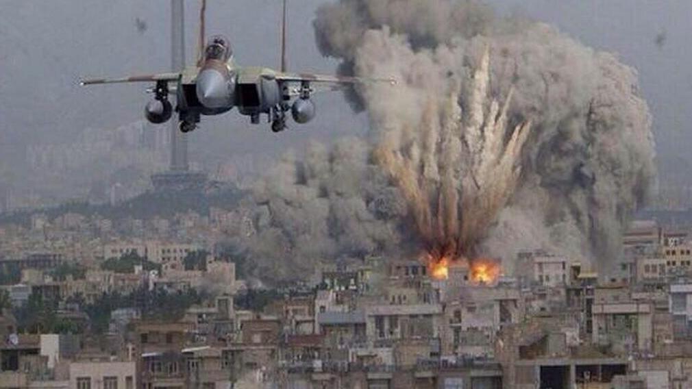 Aéronef israëlien bombardant GAZA