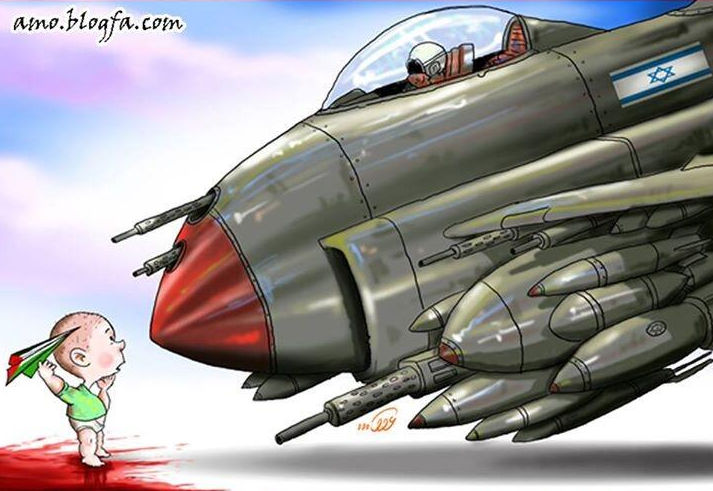 Bébé et avion israélien DESSIN