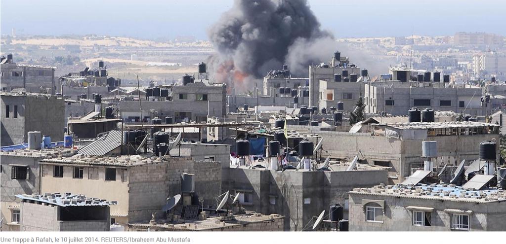 Bombardement à GAZA Photo REUTERS de IBRAHEEM ABU MUSTAFA