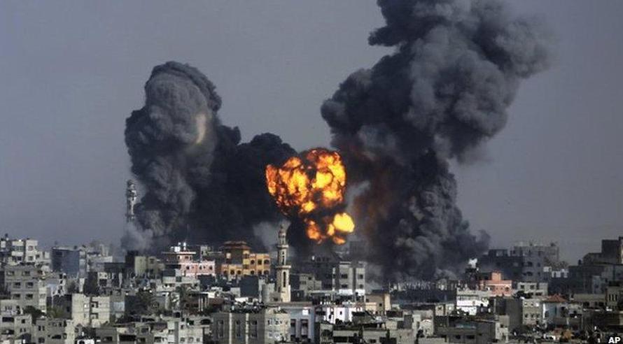 Bombe UA sur GAZA