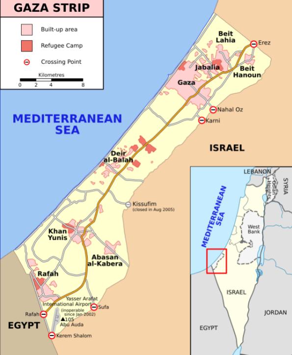 Carte ISRAËL GAZA
