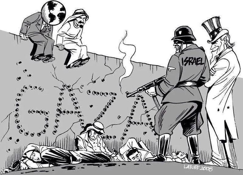 Dessin ISRAËL et GAZA