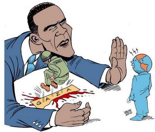 Dessin OBAMA et GAZA