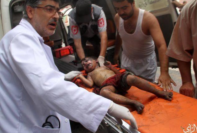 Enfant dans un hôpital à GAZA