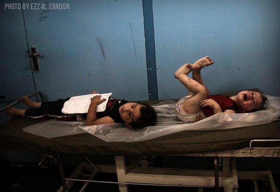 Enfants Gazaouis blessés