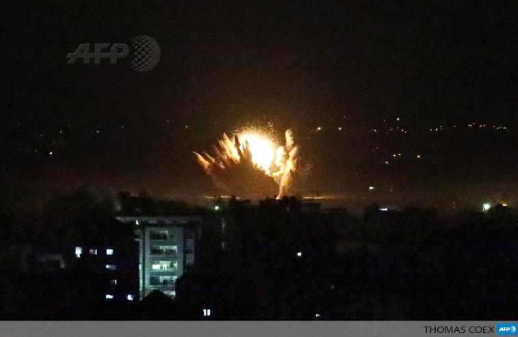 Explosion à UA sur GAZA nuit du 17 juillet 2014