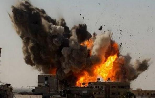 Explosion avec des armes a UA par ISRAËL