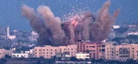 Explosion bombe à l'URANIUM appauvri sur GAZA
