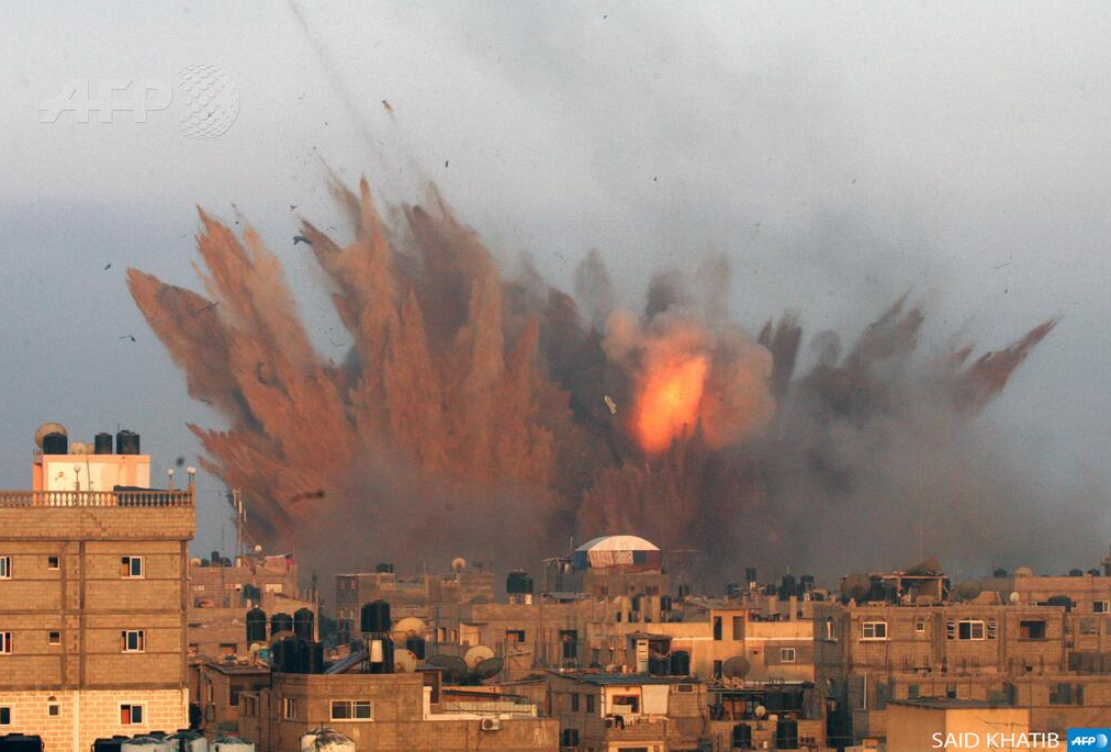 Explosion sur GAZA UA Photo AFP