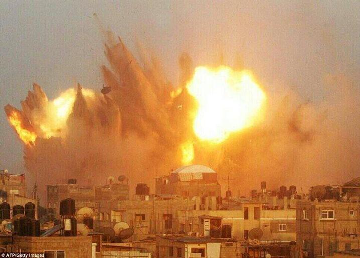 Explosion UA sur GAZA Photo AFP