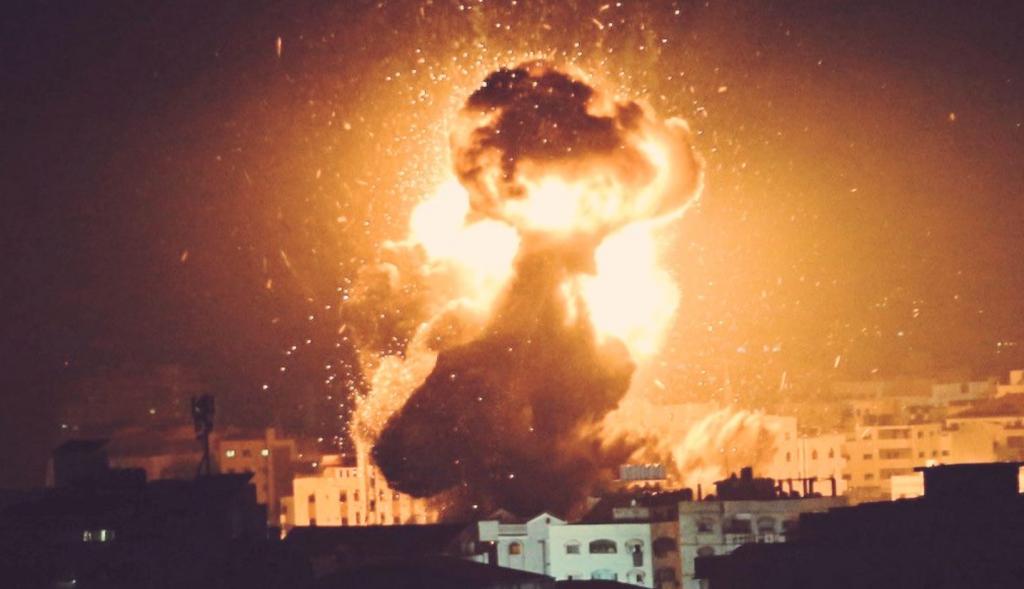GAZA bombardée à UA 17 août 2020