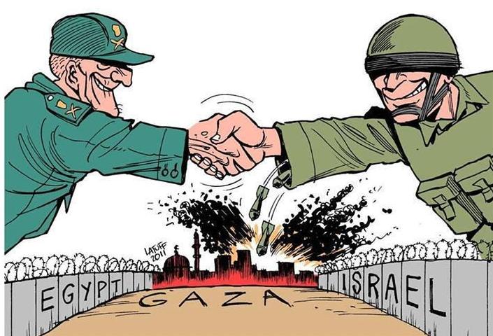 GAZA une prison Dessin humoristique