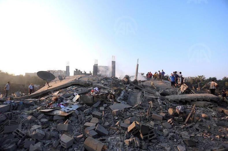 Habitation bombardée par Israël