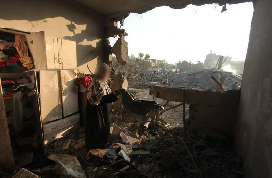 Intérieur de maison détruite à GAZA
