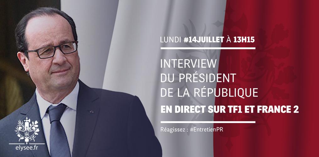 Interview HOLLANDE Site Elysée