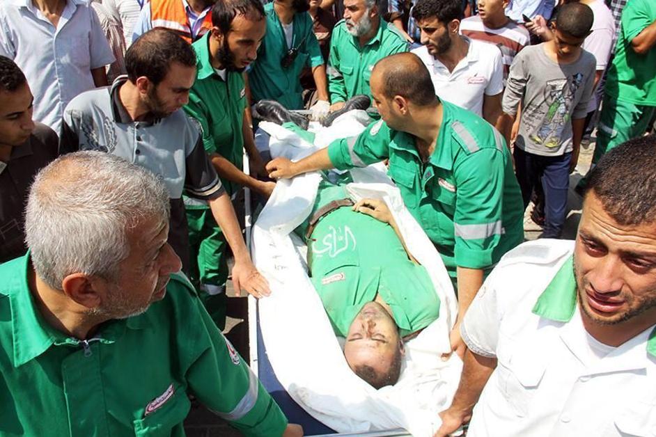 ISRAËL tire sur des ambulances et tue les ambulanciers