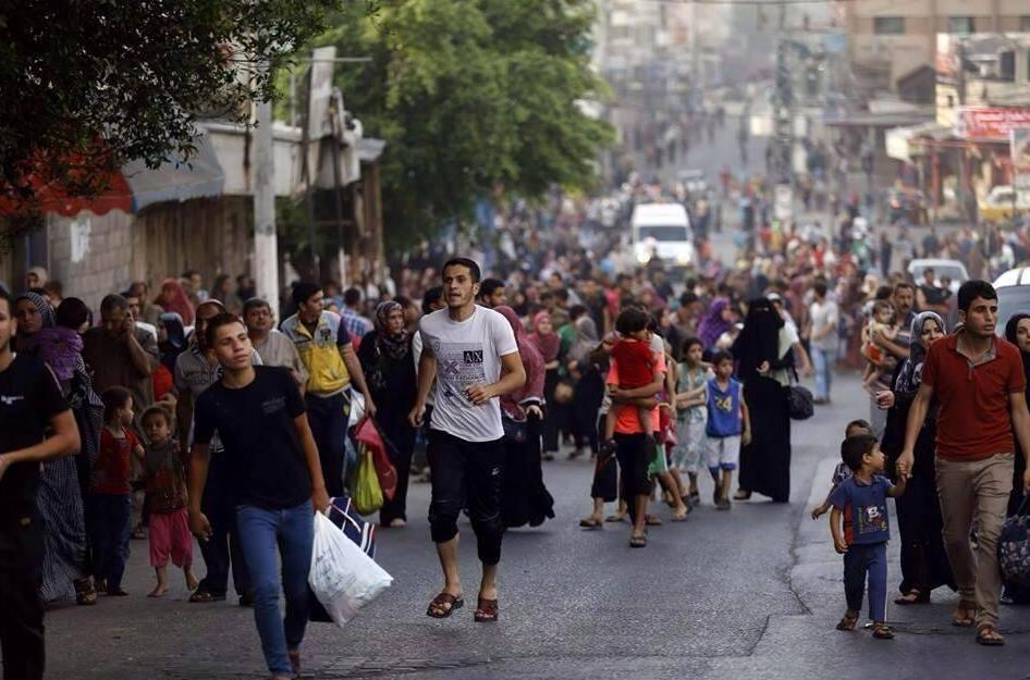 Les palestiniens de GAZA fuient