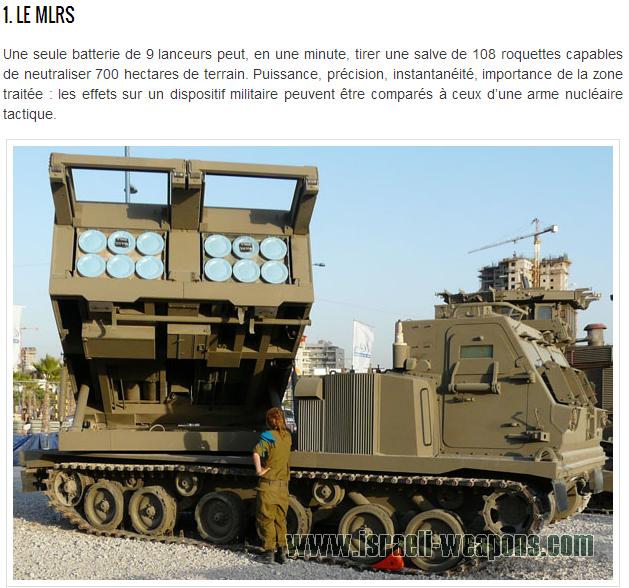 MLRS Armes israéliennes