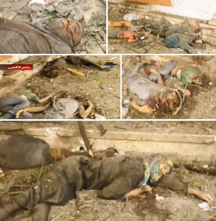 Morts dans les rues  GAZA