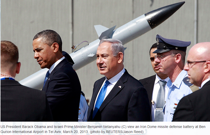OBAMA et NETANYAHU près de IRON DOME