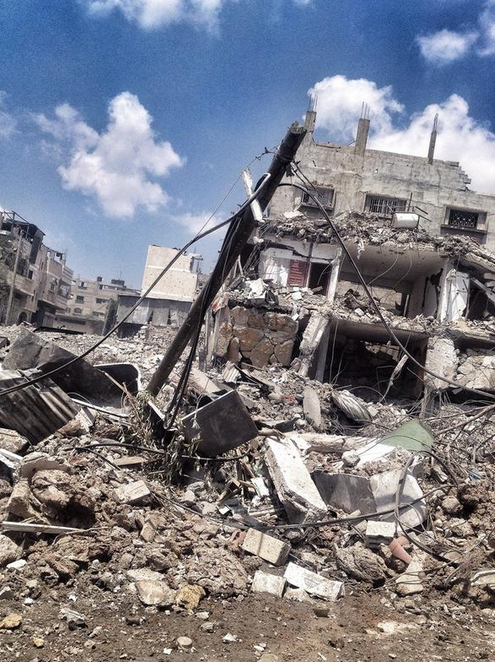 Rues de GAZA détruite