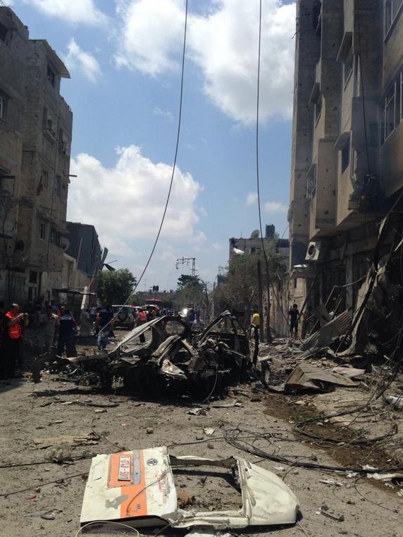 Scène chaotique à GAZA