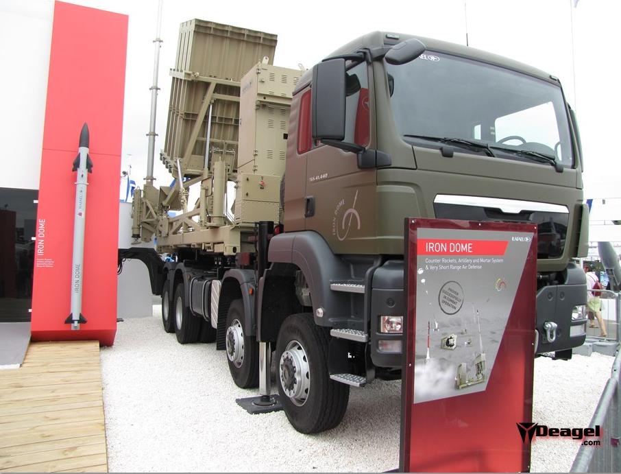 Système ION DOME sur camion et missile TAMIR