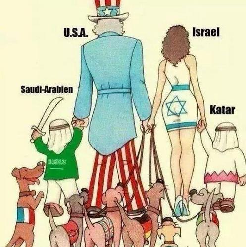 USA GAZA et les pays aux ordres